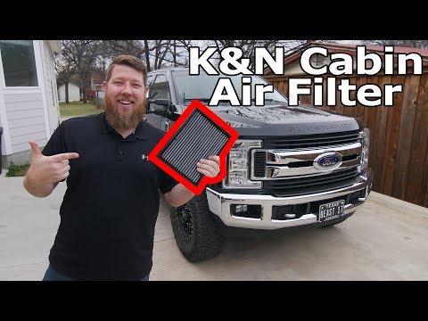 2017-2019 F250 K&N Cabin Air Filter Install