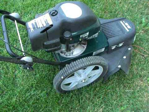 Craftsman 22 5 5hp Walk Behind High Wheel Weed Whip Youtube