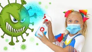 Алиса и папа показывают как победить микробы