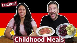 American Wife Reacts t๐ German Childhood Meals! (German Husband)
