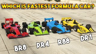 GTA 5 ONLINE : BR8 VS DR1 VS PR4 VS R88 (WHICH IS FASTEST FORMULA CAR?)