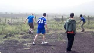 Football warm up match