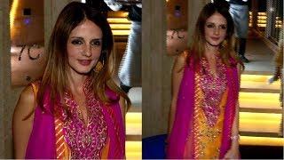 Sussanne Khan Attends Gaurav Gupta Brother's Wedding Party