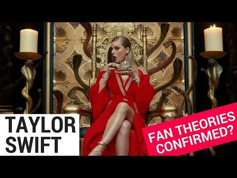 """Did Taylor Swift Confirm These Fan Theories On """"Look What You Made Me Do?"""""""