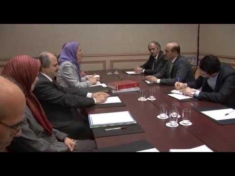 Meeting of  Maryam Rajavi and  Ahmad Jarba  in Paris