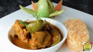 Chicken Brinjal Curry  - By Vahchef @ vahrehvah.com