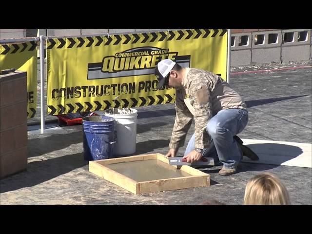 QUIKRETE DEMONSTRATION PART 1 OF 3 AT THE 2015 SPEC MIX BRICKLAYER 500® WORLD CHAMPIONSHIP