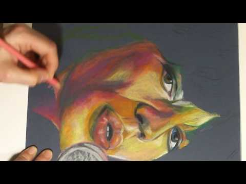 Rolling Stones Mick Jagger - Speed Painting - Drawing with Colored Pencils