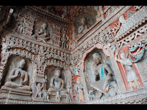 Two sites inside Yungang Grottoes restored