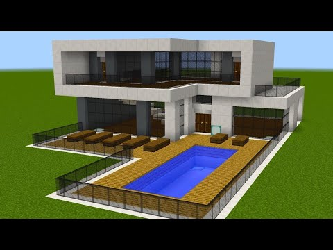 Minecraft - How to build a modern mansion 3