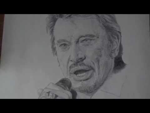 Portrait De Johnny Hallyday Au Stylo A Bille Noir Youtube