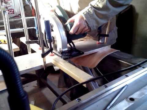 Раскрой листового алюминия (16мм)  циркулярной пилой