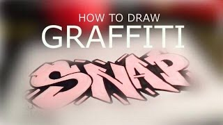 How to draw Graffiti for beginners !! 2017