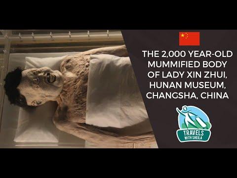 The 2,000 Year-Old Mummified Body of Lady Xin Zhui, Hunan Museum, Changsha, China