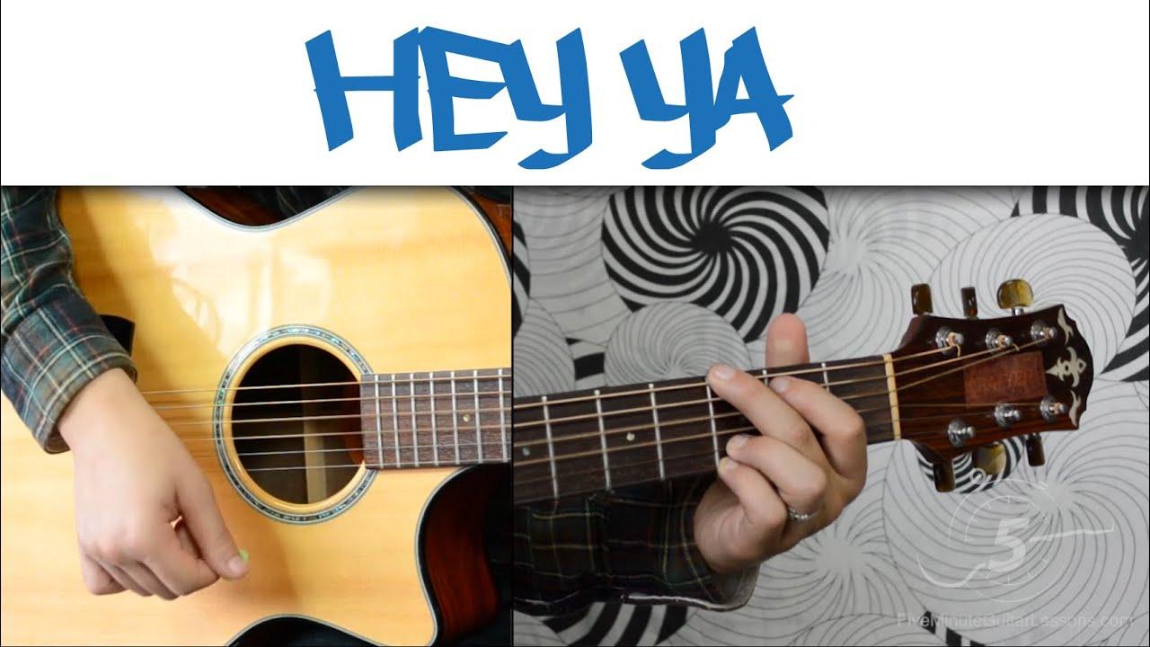 Hey Ya Outkast Easy Guitar Tutorial Simple Chords And Strumming