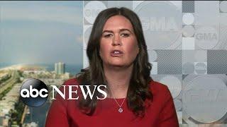 White House press secretary Sarah Sanders responds to Mueller report