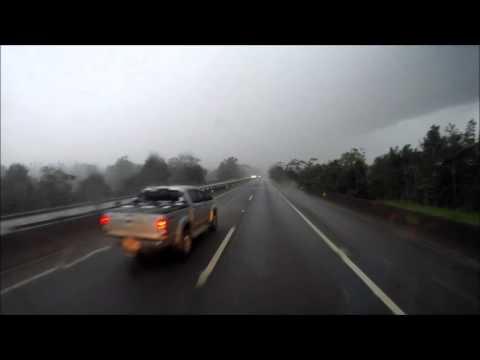 Saindo de Joinville Chuva forte e raios