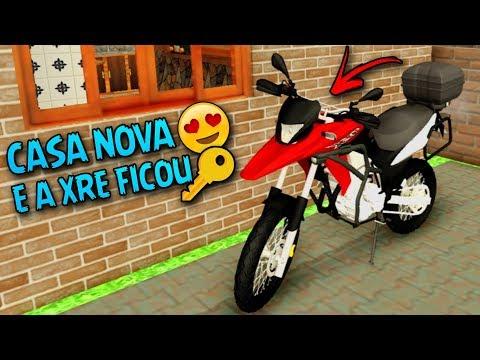 GTA SAN ANDREAS MOTOVLOG Vida Real #111 - ALUGUEI UMA CASA NOVA & TROQUEI A COR DA MINHA XRE 300😍😍