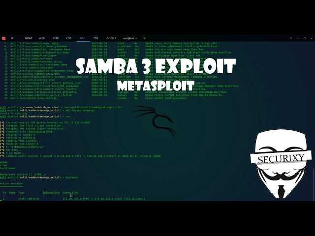 Атака на Samba 3 и миграция сессии в Meterpreter | Metasploitable 3
