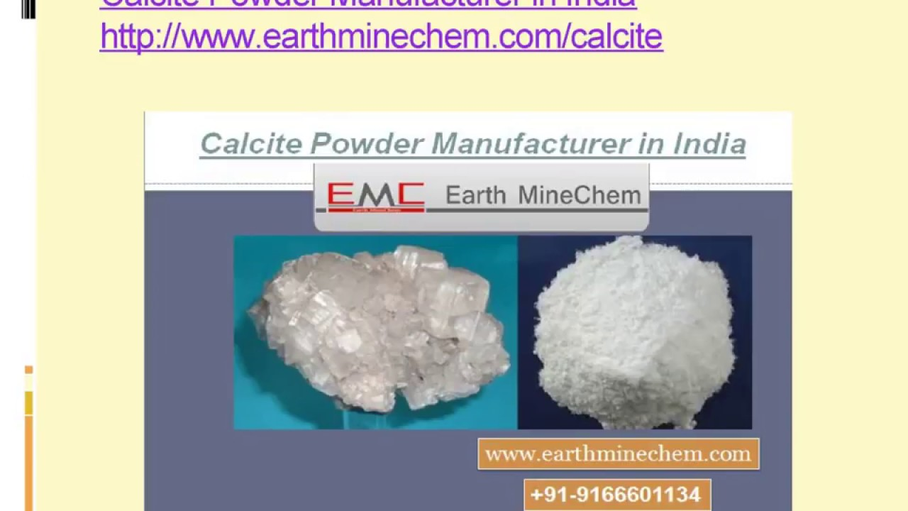 Calcite Powder Manufacturer in India Uses - YouTube