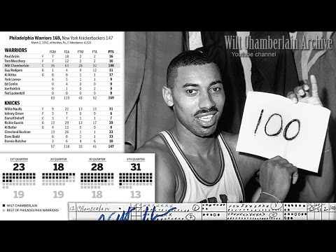 Wilt Chamberlain 100 Point Game Radio Broadcast (Full 4th Qu