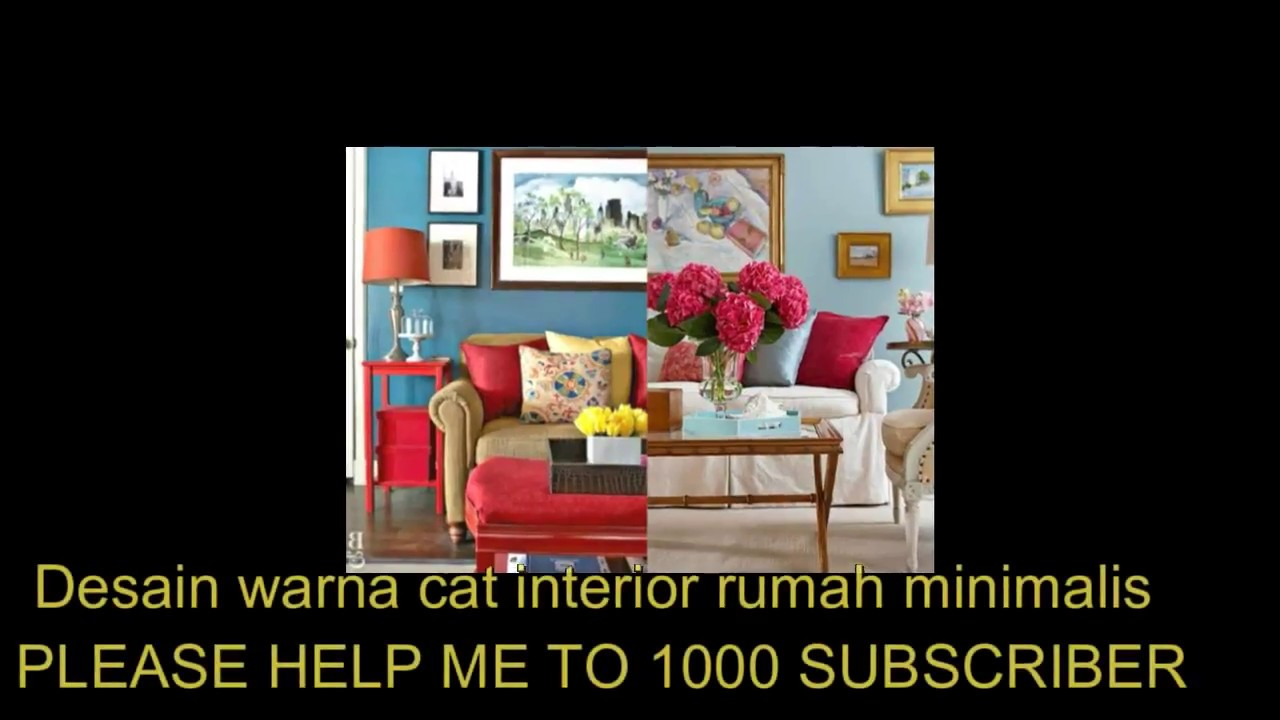 Desain warna cat interior rumah minimalis - YouTube