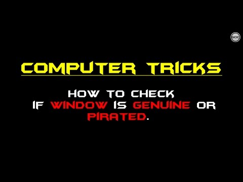 How To Check If Window Is Genuine Or Pirated Using CMD  | Computer Tricks | Gangs Of Coder | 2017