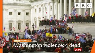 Four dead after Trump supporters ransack Congress 🔴 @BBC News live - BBC