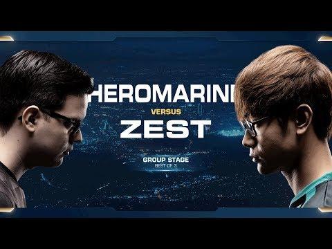 HeroMarine vs Zest TvP - Group B - 2018 WCS Global Finals - StarCraft II