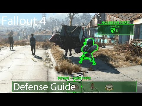 fallout 4 how to build defence