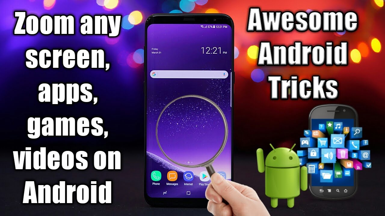 How to zoom any screen on android phone, Zoom video in android phone [Best  Android Tricks] #TechNews