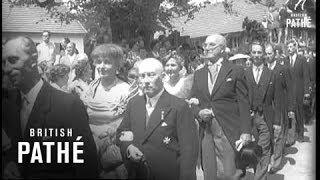 News Flashes Habsburg Wedding & Earthquake In India (1956)