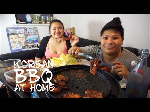 Korean Barbecue at Home ( 고기구이 )  | Mukbang (Eating Show)