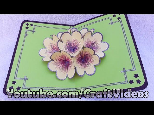 How to make 3d flower pop up card m4hsunfo