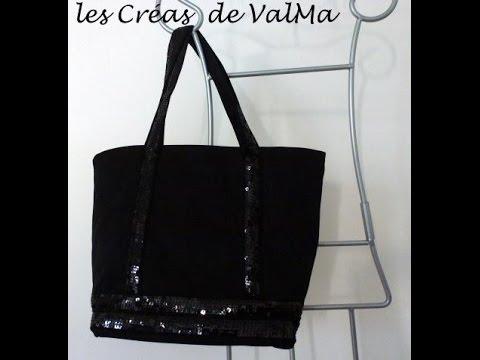 Fabuleux Tuto Couture Sac Bandes sequins paillettes style VB / Sewing - YouTube WV68