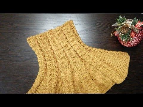 Манишка треугольная спицами для женщин схемы вязания