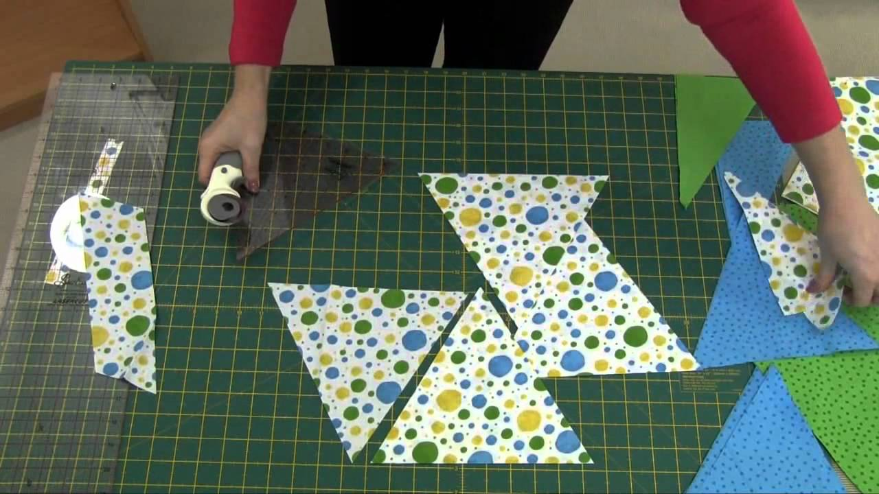 How To Cut Out Triangles For Your Triangle Quilt New Sew Easy