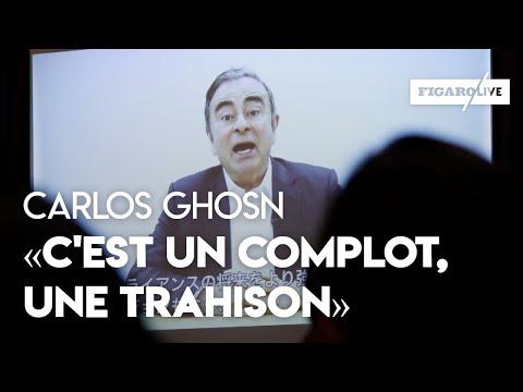Carlos Ghosn: «C'est un complot, une conspiration, une trahison»
