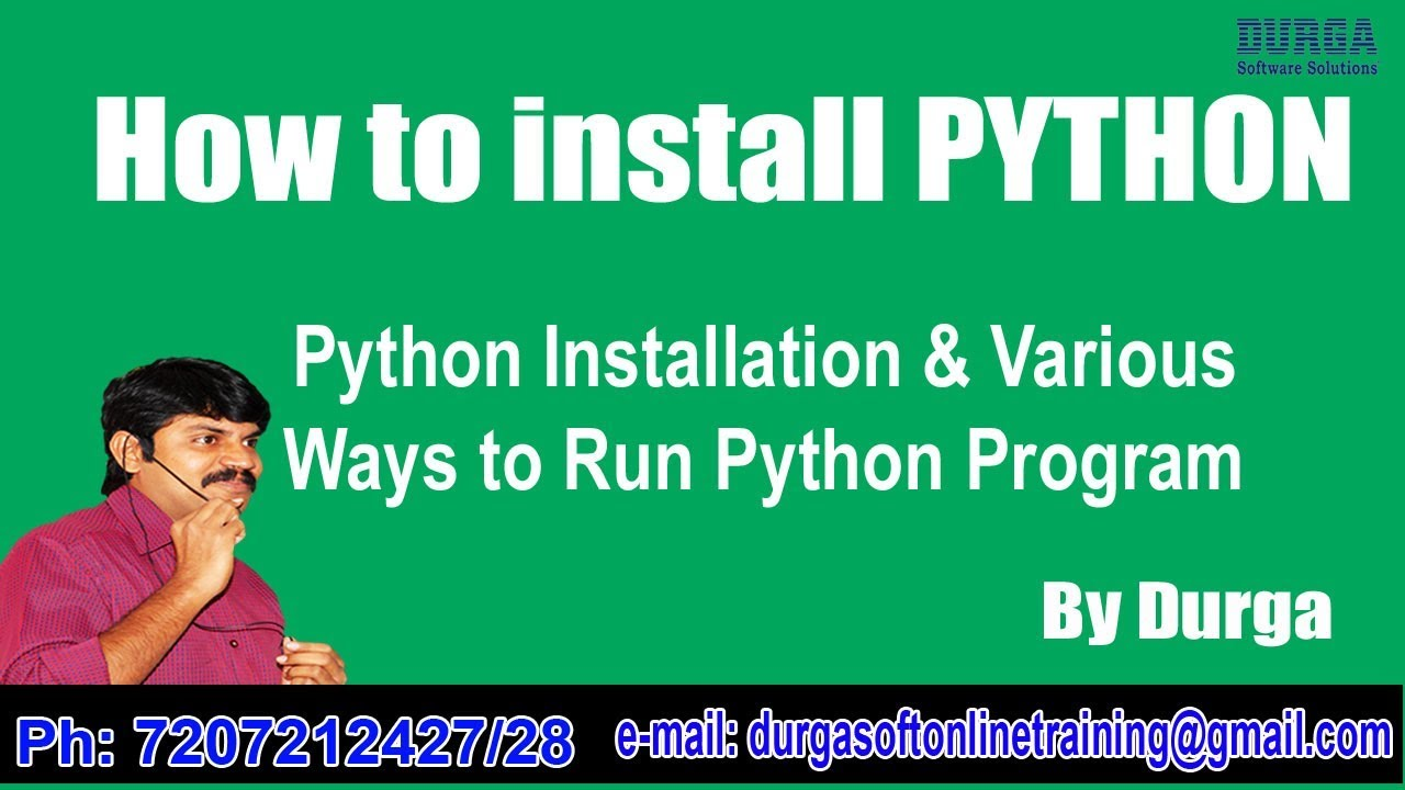 how to run python with win