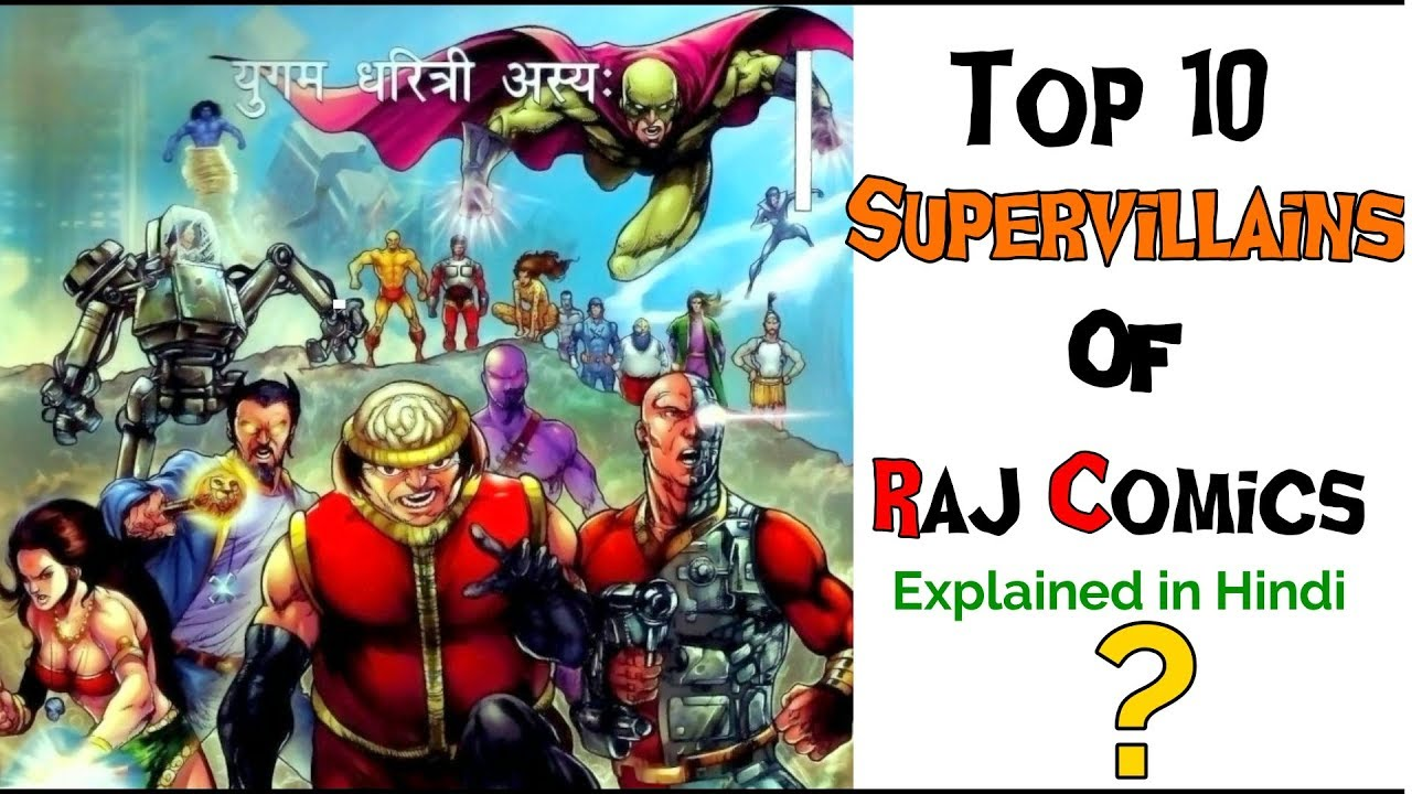 Top 10 Most Powerfull Supervillains of Raj Comics