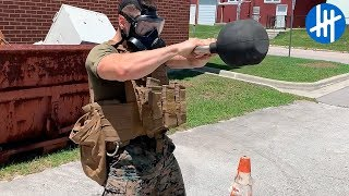 Real Life Marine Corps HardCore Training   Muscle Madness