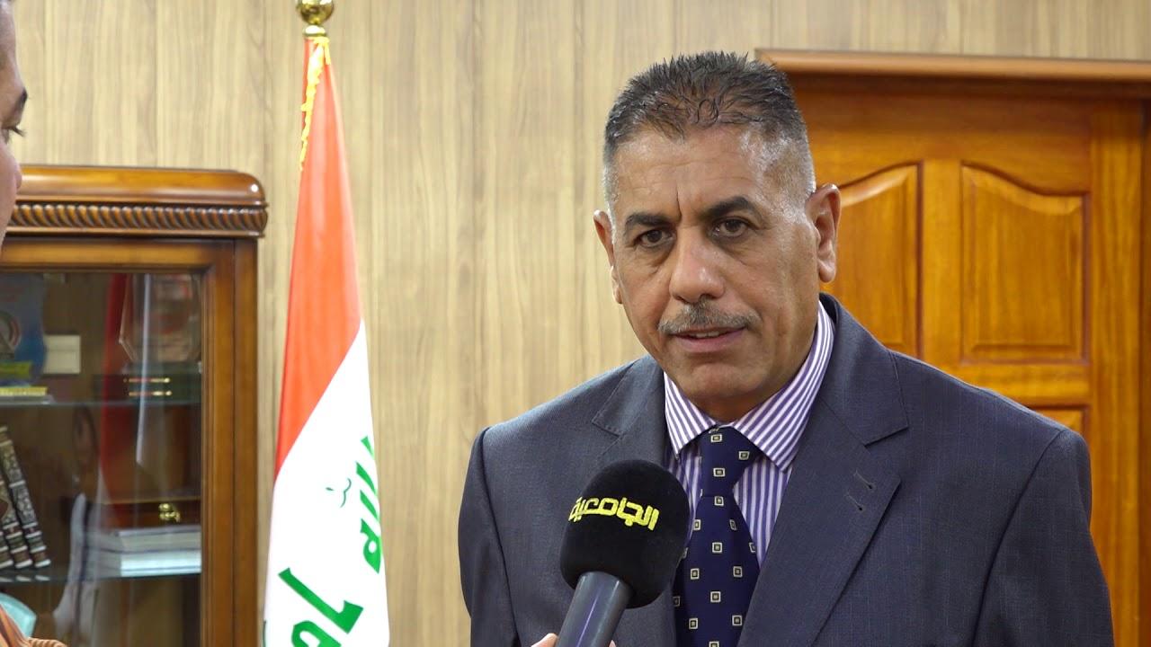 رئيس جامعة القادسية الاستاذ الدكتور كاظم جبر يطلع على سير الامتحانات النهائية