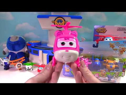 Thumbnail: Super Wings Transform-a-Bot Dizzy Jett Donnie Mira Jerome Paul the Policeman