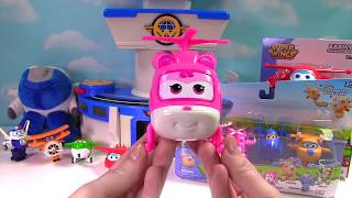 Super Wings Transform-a-Bot Dizzy Jett Donnie Mira Jerome Paul the Policeman