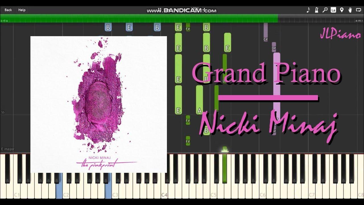 Grand Piano Nicki Minaj Synthesia Piano Vocal Cover