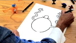 How to Draw the Mr Men characters -- Mr Tickle