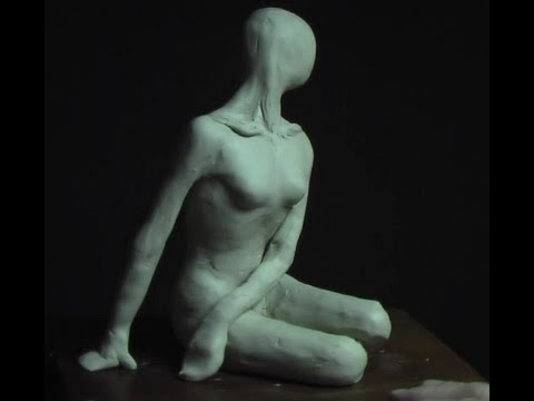 Sculpting a female in a Sitting Pose _ part-1
