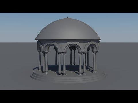Modeling Stone Garden Arch 3d Model in 3ds Max FOR Beginners