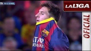 Messi falla una clara ocasión de gol