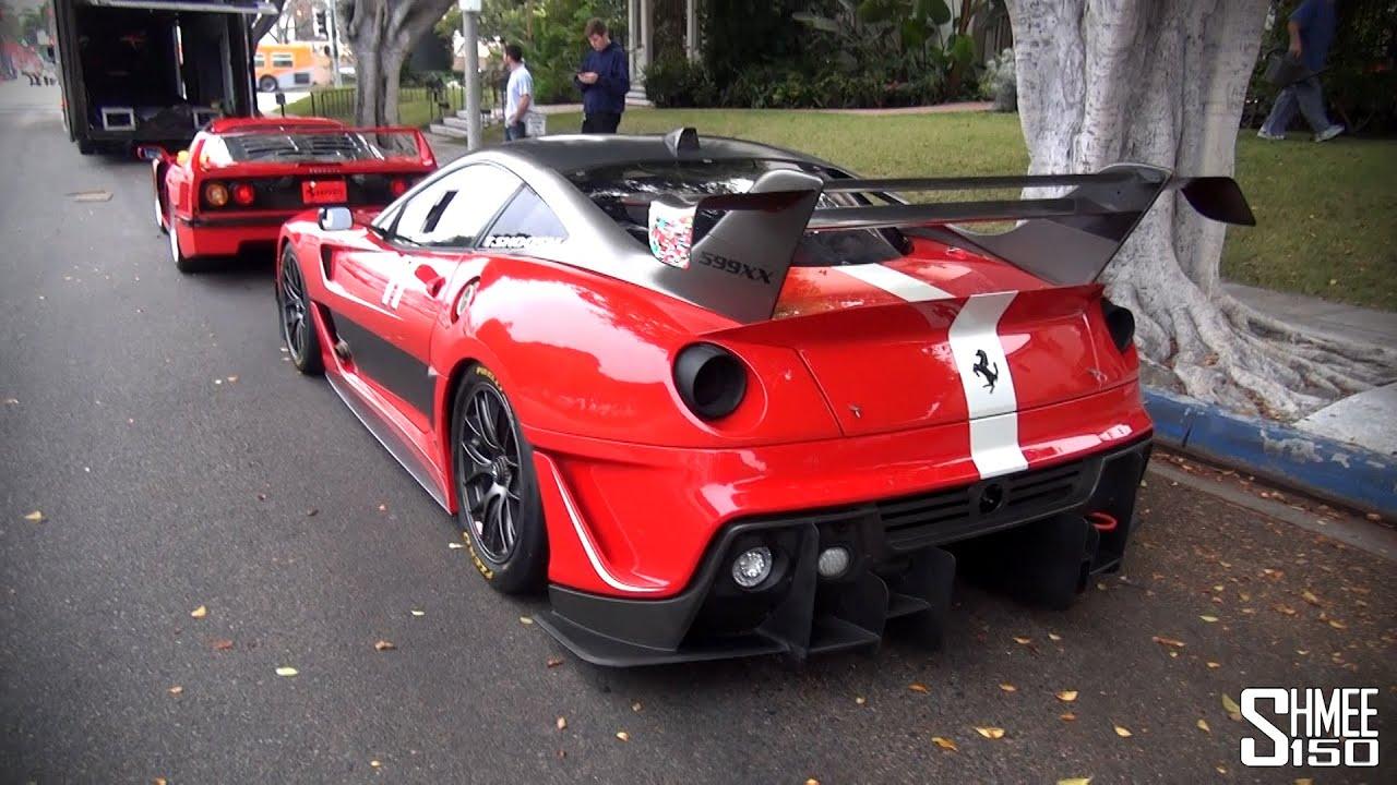 Dream Ferrari Truck - Enzo, 599XX, F50, F40, 288 GTO - YouTube
